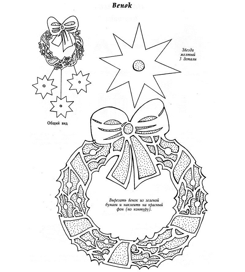 Шаблон рождественского венка