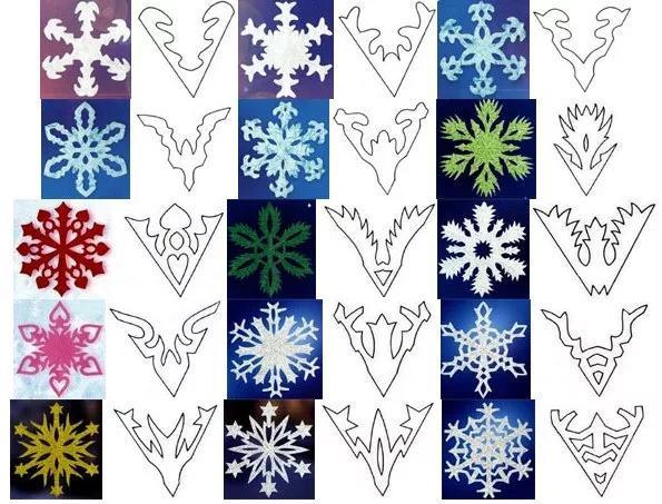 Узоры снежинок из бумаги