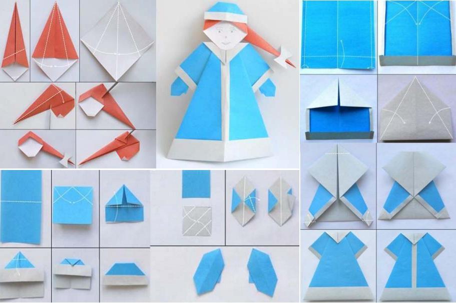 Снегурочка оригами своими руками