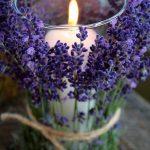 Фото 50: Украшение подсвечников цветами