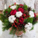 Фото 23: Зимний букет с розами