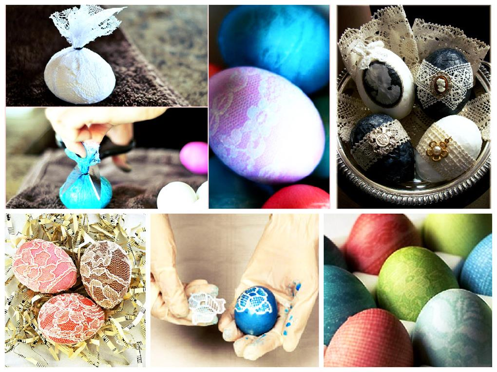Ажурное окрашивание яиц