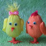 Фото 67: Декор яиц гофрированной бумагой