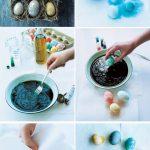 Фото 79: Мраморный эффект для пасхальных яиц