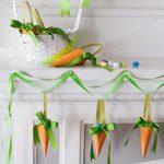 Фото 18: Пасхальные гирлянды в виде морковок