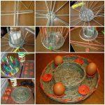Фото 81: Подставка из газетных трубочек для яиц
