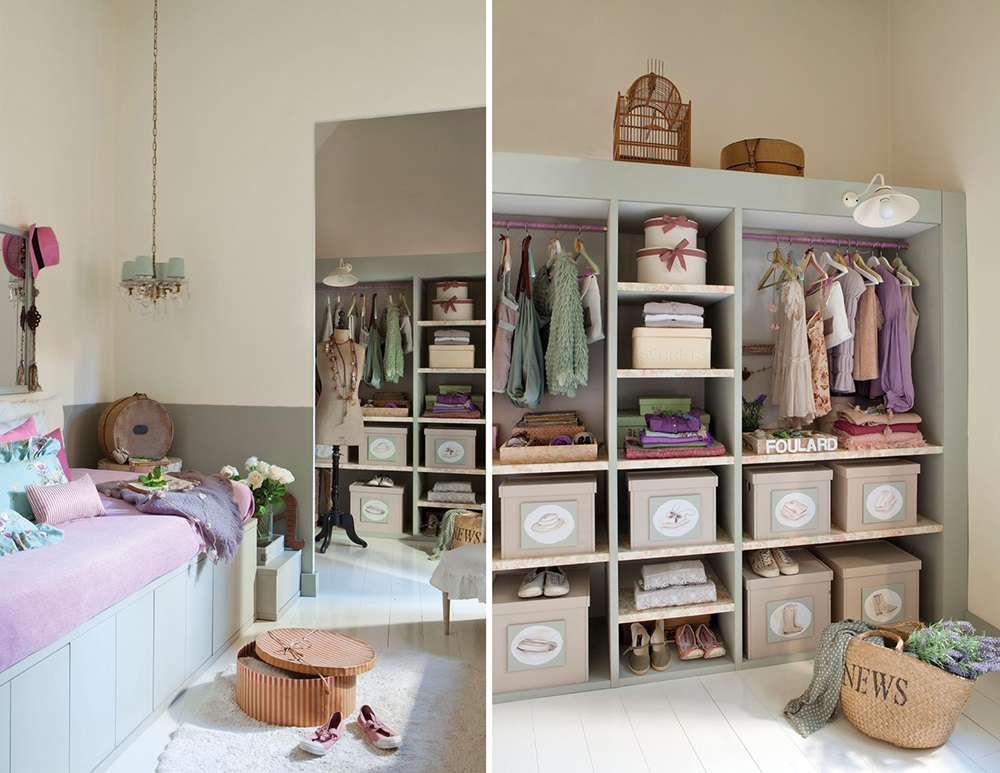 Гардеробная комната в детской