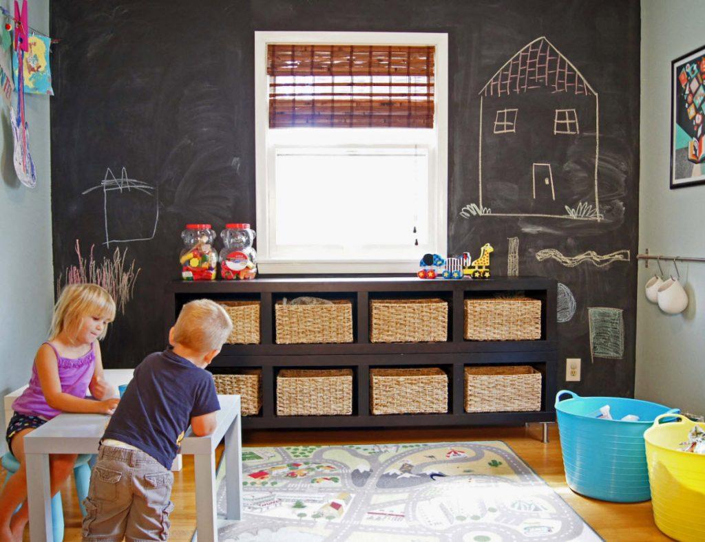 Стена для рисований мелом в детской
