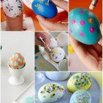 Фото 55: Точечный дизайн пасхальных яиц