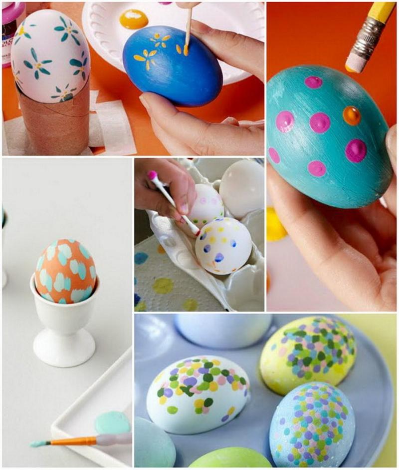 Точечный дизайн пасхальных яиц