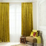 Фото 60: Бархатные желтые шторы