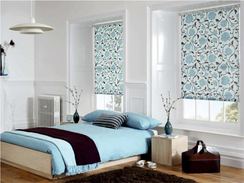 Рулонные шторы для спальни с рисунком
