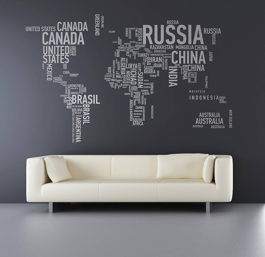 Надписи в виде карты