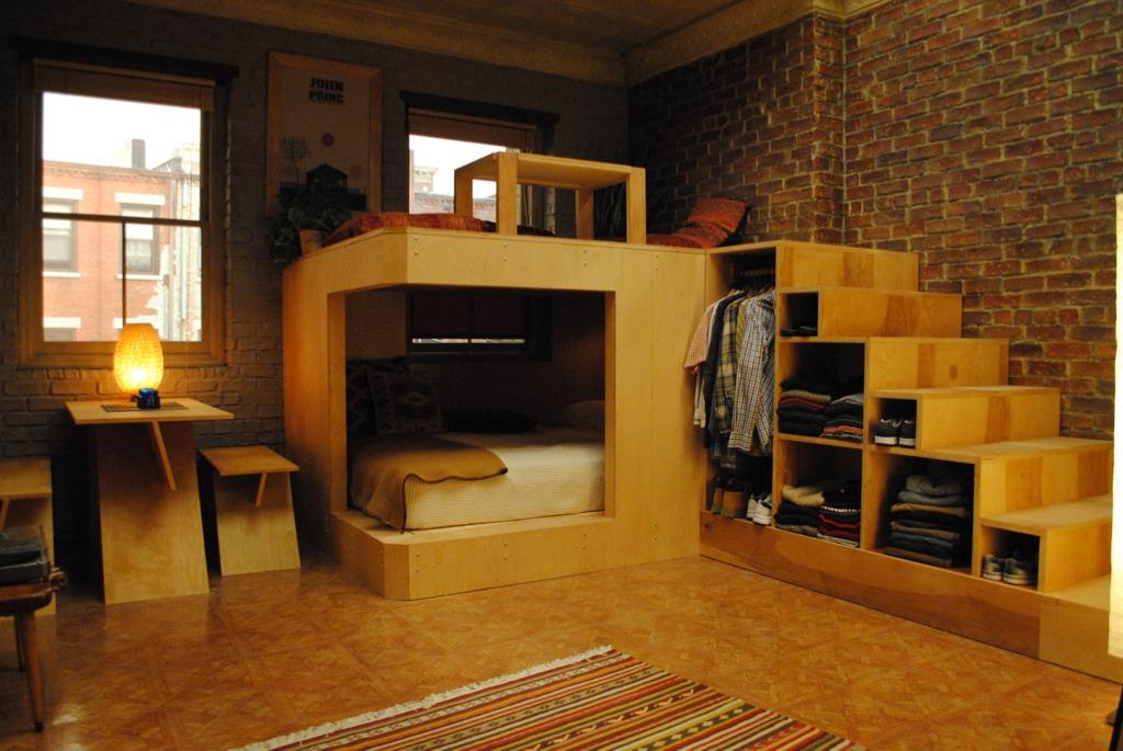 Деревянные модули в квартире