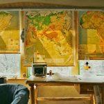 Фото 14: Рулонные шторы с картой