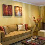 Фото 20: Золотистые двухцветные шторы