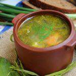 Фото 15: зеленый борщ с щавелем рецепт