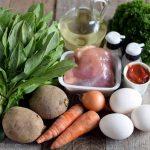 Фото 22: ингредиенты для зеленого борща