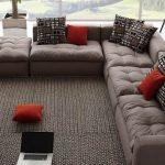 Фото 12: модульный угловой диван в современной гостиной
