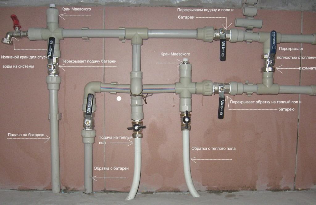 Система отопления из ПП-труб
