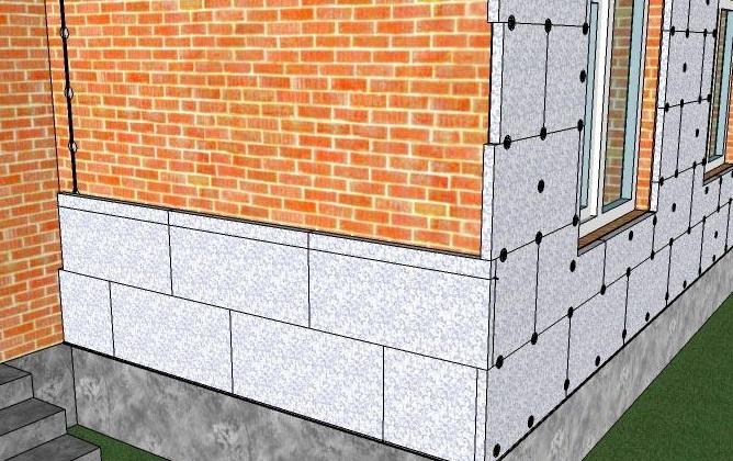 Утепление внешних стен частного дома