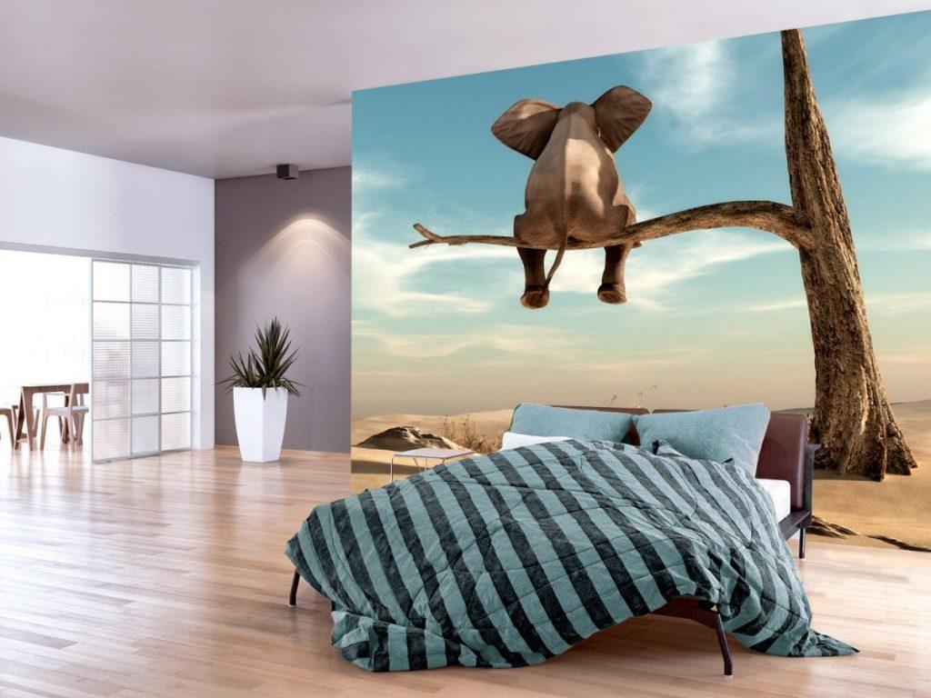 Оригинальный постер в спальне на всю стену
