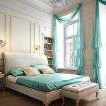 Фото 85: Бирюзовые шторы