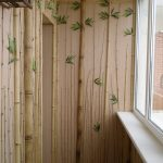 Фото 64: Отделка балкона бамбуком