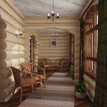 Фото 8: Дизайн деревянного дома изнутри