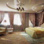 Фото 76: Красивая спальня с натяжным потолком