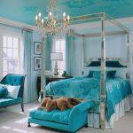 Фото 11: Бирюзовая спальня
