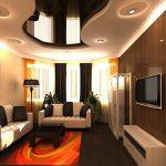 Фото 8: Дизайн натяжного потолка