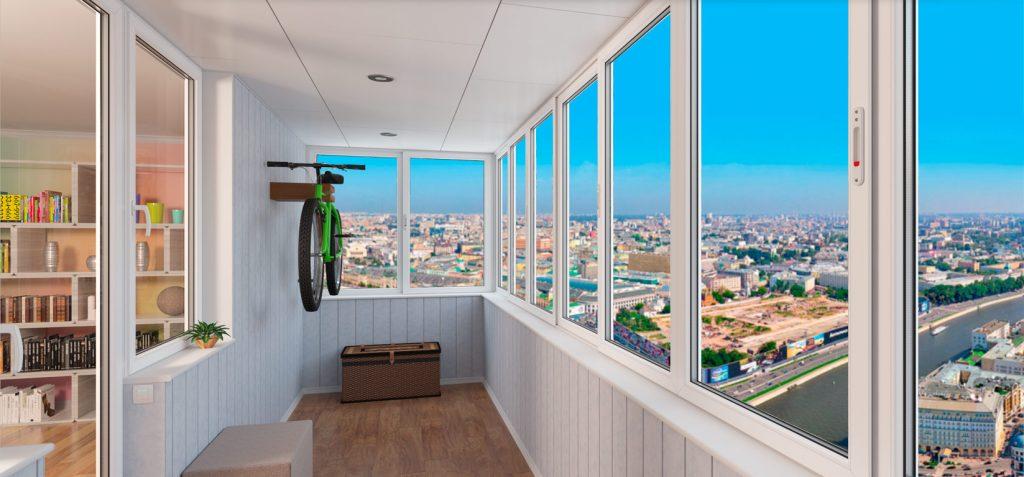 Остекление балкона - панорамный вид