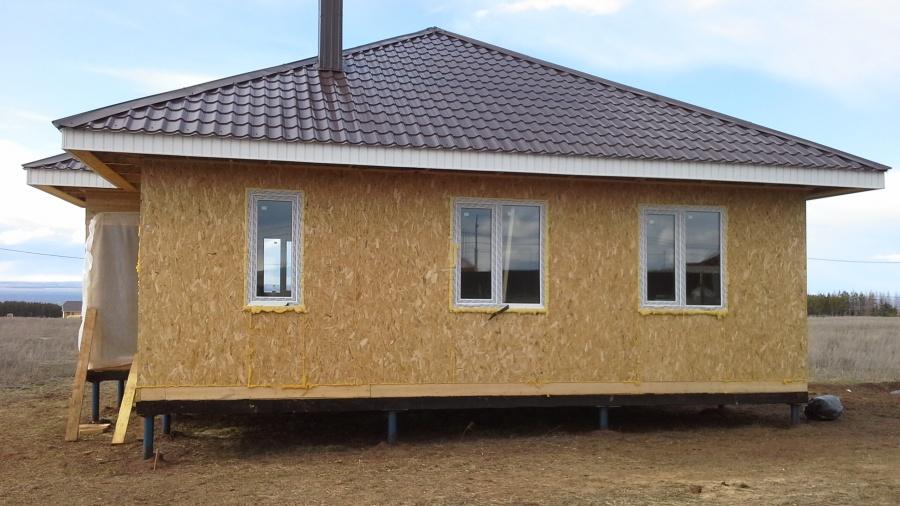 Дом построенный из СИП-панелей