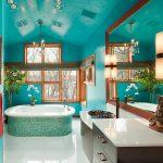 Фото 6: оформление ванной комнаты в бирюзовом цвете
