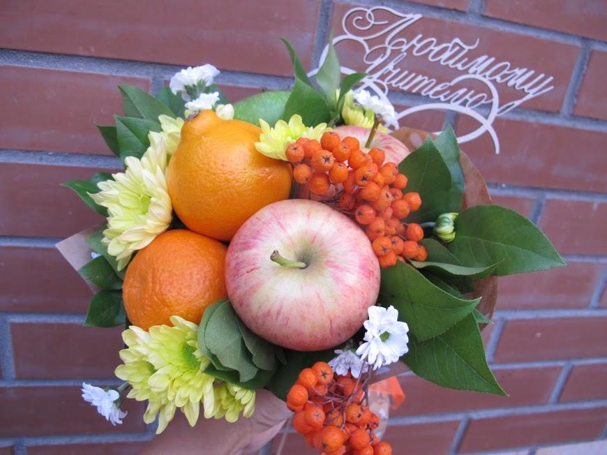 Букет из фруктов на 1 сентября