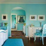 Фото 20: Бирюзовый цвет спальни