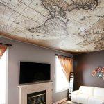Фото 5: Тканевый натяжной потолок