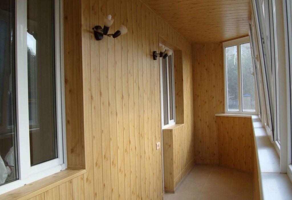 Утепление и внутренняя обшивка балкона