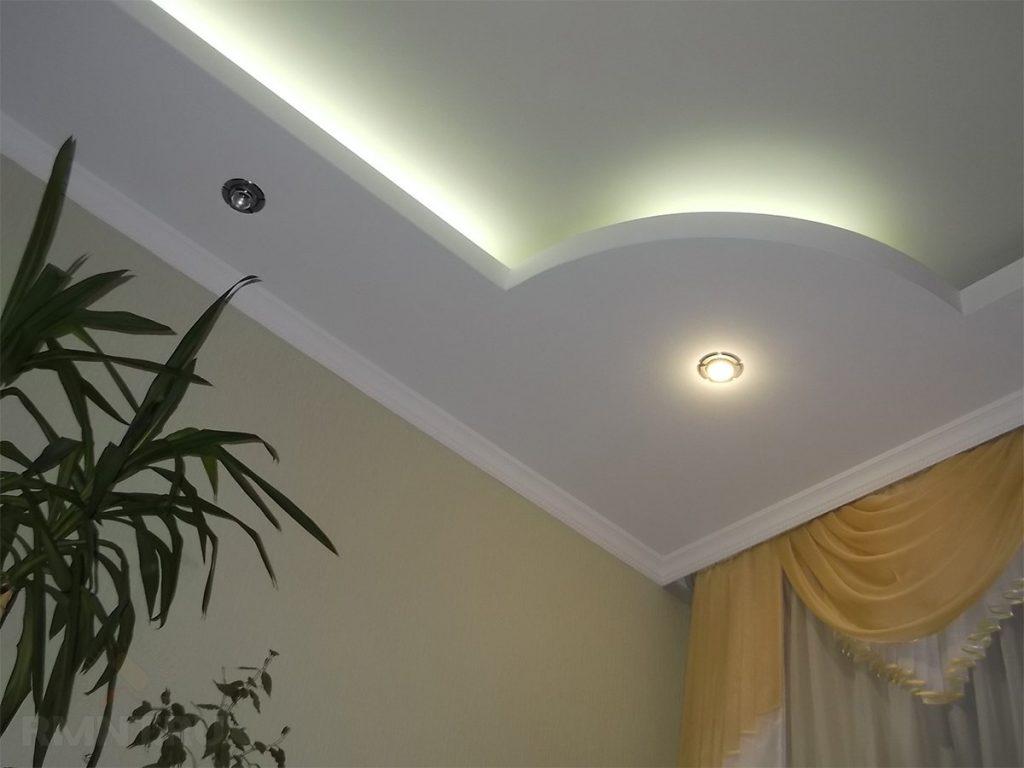 Двухуровневый потолок - оформление света