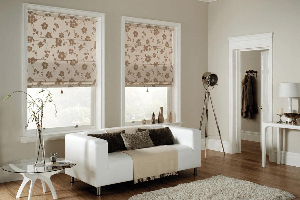 Современный римские шторы в цветах