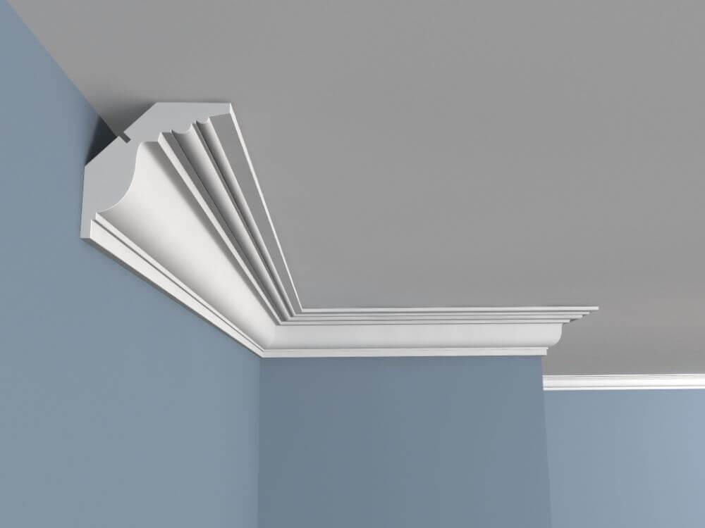 Макет потолочного плинтуса под натяжной потолок
