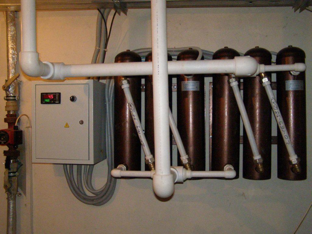 Подключение блока индукционных котлов к сети питания 380 вольт