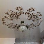 Фото 74: Роспись на натяжных потолках