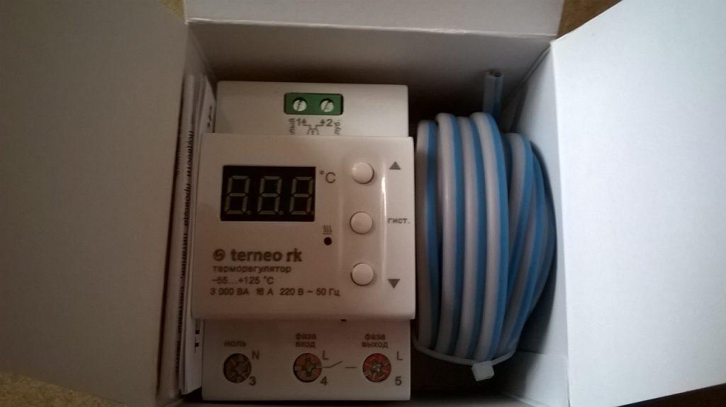 Терморегулятор для электрического котла отопления.