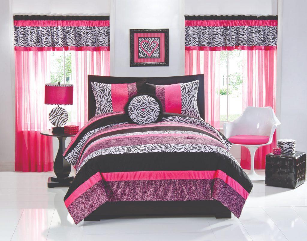 Сочетание розового и серого цвета в интерьере спальни