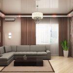 Фото 22: Дизайн потолка в гостиной