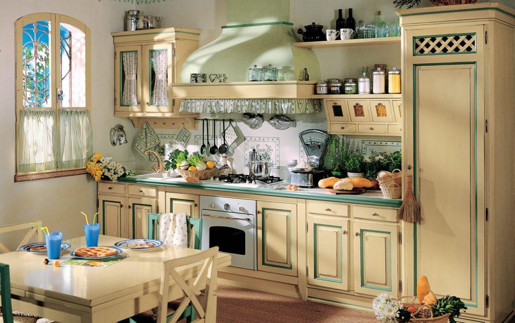 Современная кухня в стиле кантри