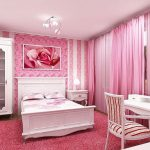 Фото 42: Современная спальня в розовом цвете