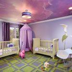 Фото 91: Натяжной потолок в детской комнате